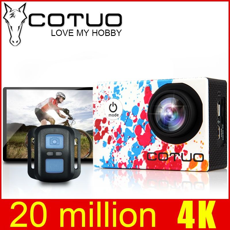 COTUO CS96 Sports Action Camera 4K Gyro Adjustable Viewing 170D angles 2.0 LCD Wifi NTK96660 30M Waterproof Riding Helmet Camera