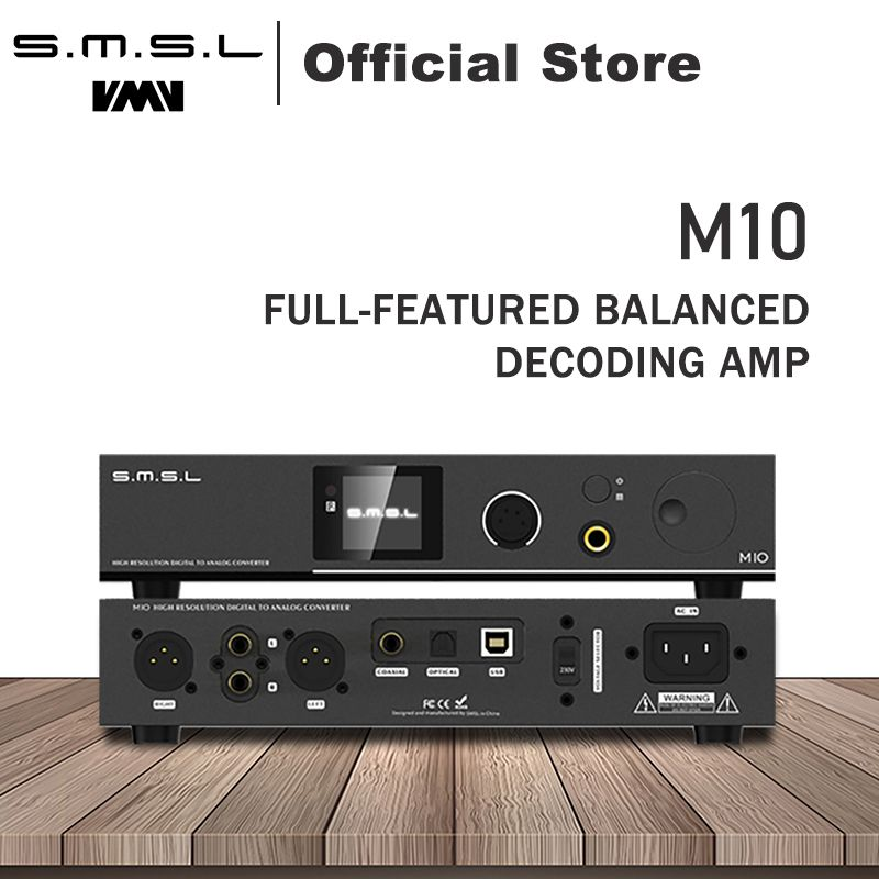 SMSL M10 AK4497 Chip Full balanced headphone amplifier& DAC Support DSD512 PCM768kHz USB Digital Decoder Power Amplifier