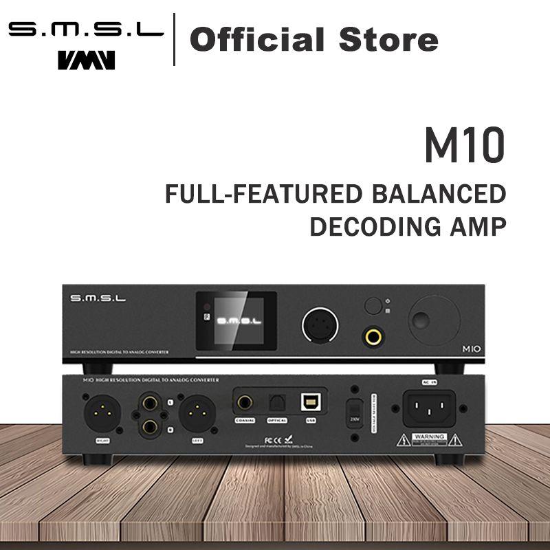 SMSL M10 AK4497 Chip Full balanced headphone amplifier& DAC Support DSD512 PCM768kHz USB Digital Decoder Power Amplifier