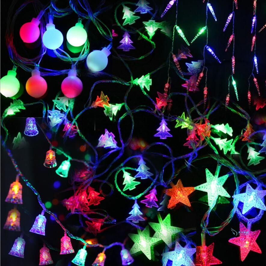 2016 De Noël Led lumières décoratives série festival En Plein Air étoiles lampes 4.5 mètres arbre De Noël Orament lumières article