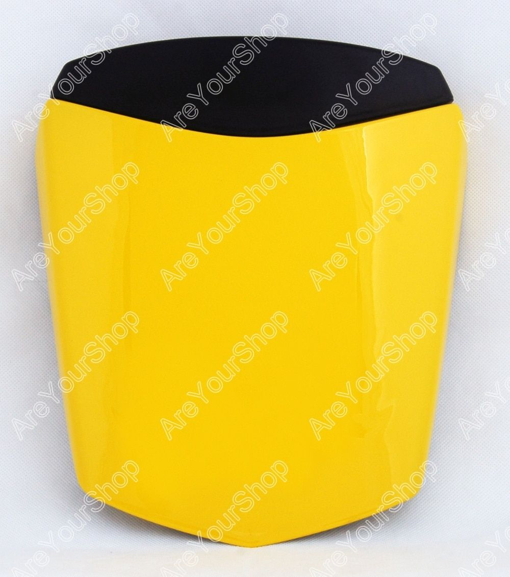 Areyourshop  Yellow Universal Motorcycle Rear Seat Cover Cowl  Seat Cowl Rear Pillion Fairing Set For Yamaha R6 2003-2005