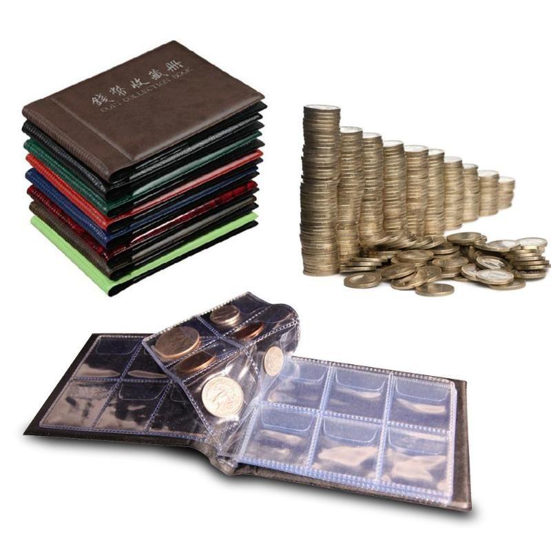 2018 60 Slots Münze Album Bücher 10 Seiten Geld Penny Münze Tasche Sammlung Halter Lagerung Album Buch Münze Halter Gelegentliche farben