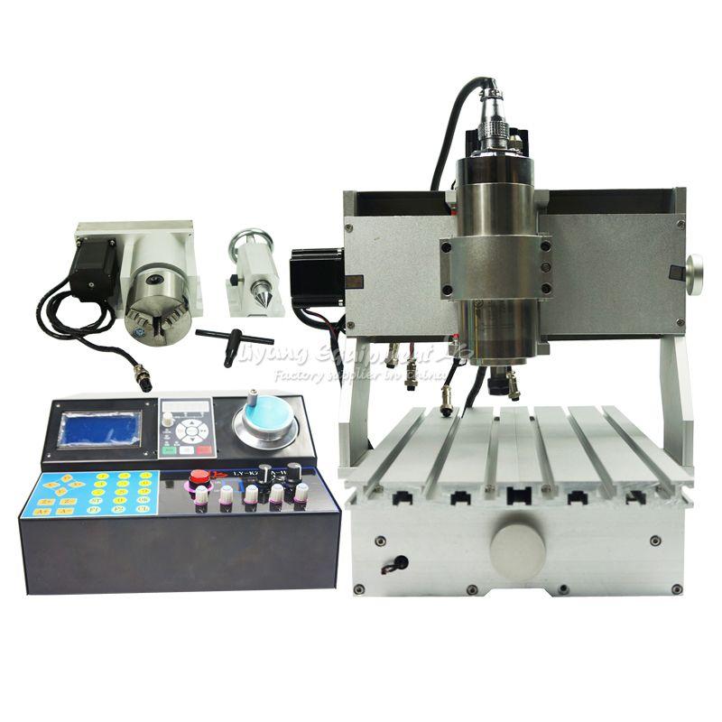 Heißer verkauf Ball Schraube CNC Maschine 3020 v + H 800 watt 4 Achsen Wasser Kühlung Spindel für Metall Holz fräsen Router