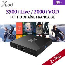 4 K X96 Android 6.0 Smart TV Box IPTV 1 Année Abonnement SUBTV IUDTV IPTV Abonnement QHDTV PK X92 Arabe Europe IPTV Top boîte