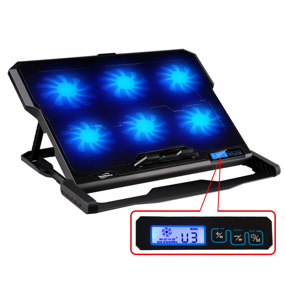 Laptop cooler 2 USB Ports and Six cooling Fan laptop cooling pad Notebook stand For 14.6