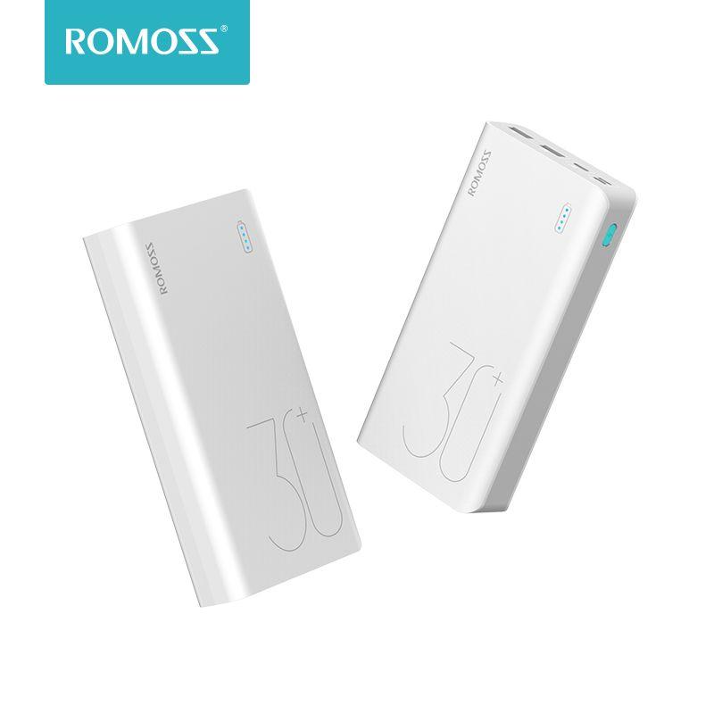ROMOSS Sense 8 + 30000 mAh batterie externe Portable batterie externe avec QC3.0 chargeur Portable de charge rapide pour les téléphones tablette