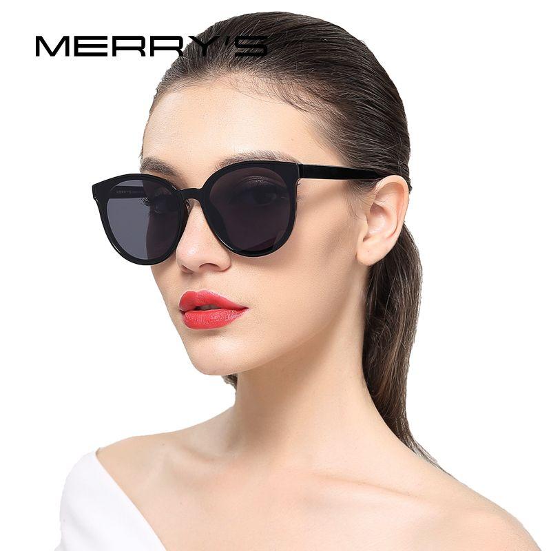 MERRY'S Femmes Classique Marque Designer lunettes de Soleil Vintage Cat Eye lunettes de Soleil S'8094