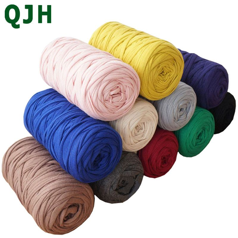 210 g/pcs Fils Fantaisie Pour Tricot À La Main Fil Épais Crochet Fil de Tissu DIY sac à main tapis coussin Coton T-Shirt En Tissu fil