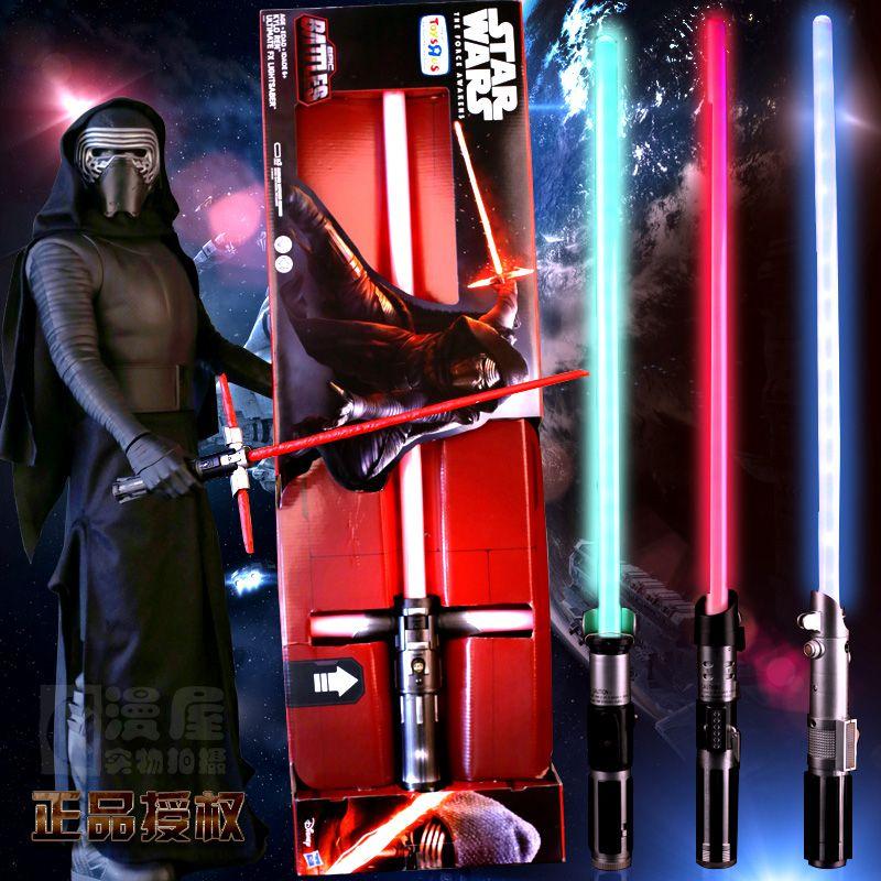 90CM Star Wars Lightsaber Darth Vader Anakin Skywalker ObiWan KyloRen YodaStar Wars Light Saber Mint <font><b>Sound</b></font> Light Saber boys gift