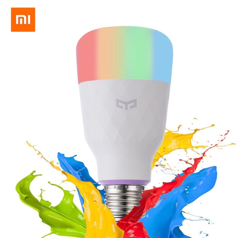 [Version anglaise] Xiao mi Yeelight ampoule LED intelligente coloré 800 Lumens 10W E27 citron lampe intelligente pour mi Home App Option blanc/rvb