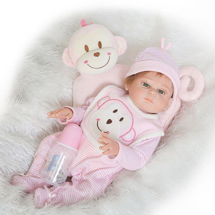 New Arrival Full Silicone Body Reborn Babies Doll Toys 50cm Newborn Girl Baby Doll Kids Birthday Gift Bathe Toy