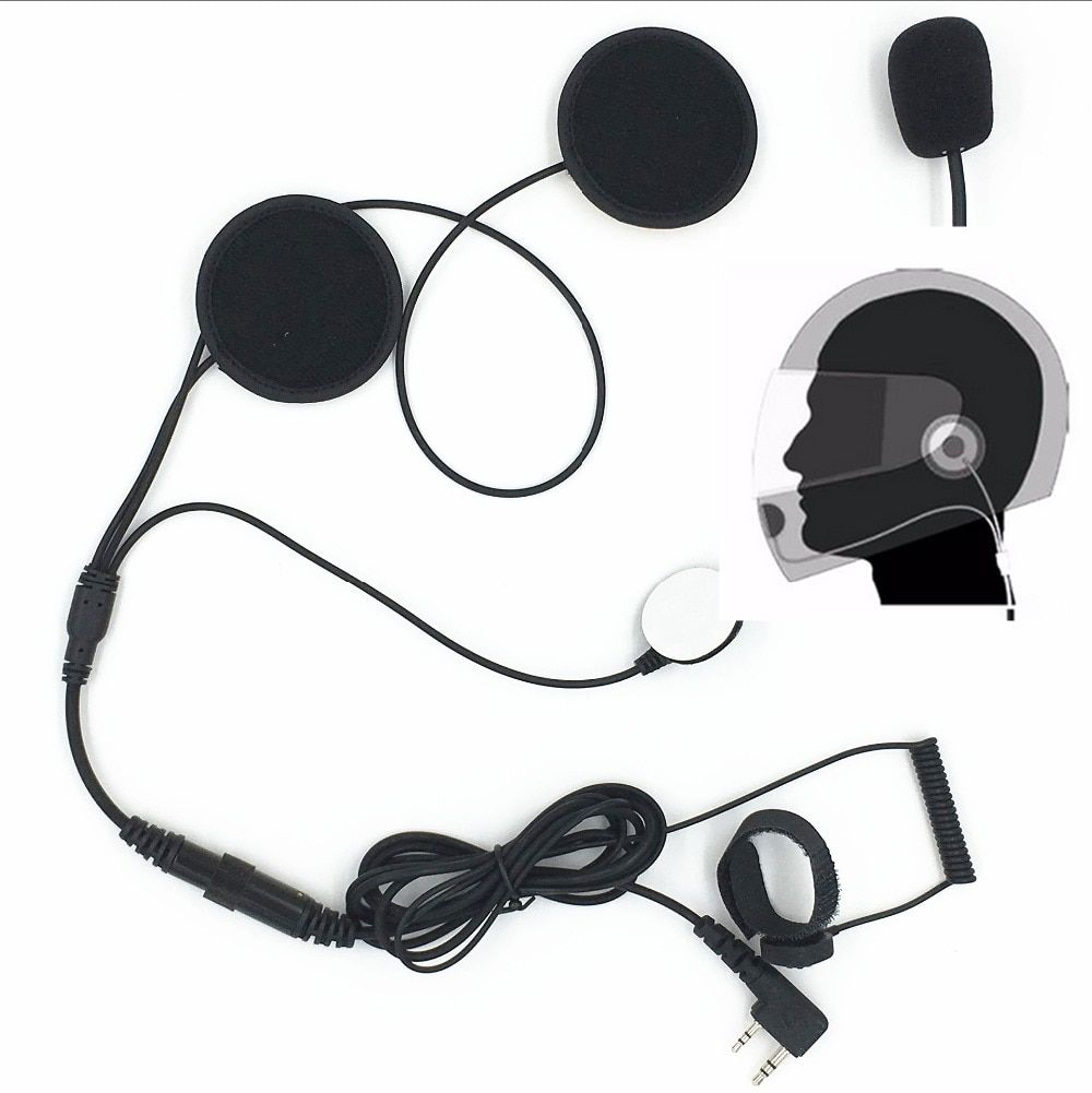 New 2PIN finger PTT walkie talkie Motorcycle Helmet Headset Earpiece for Two Way Radio Baofeng UV-5R UV-5RA E BF-888S GT-3 GT-3T