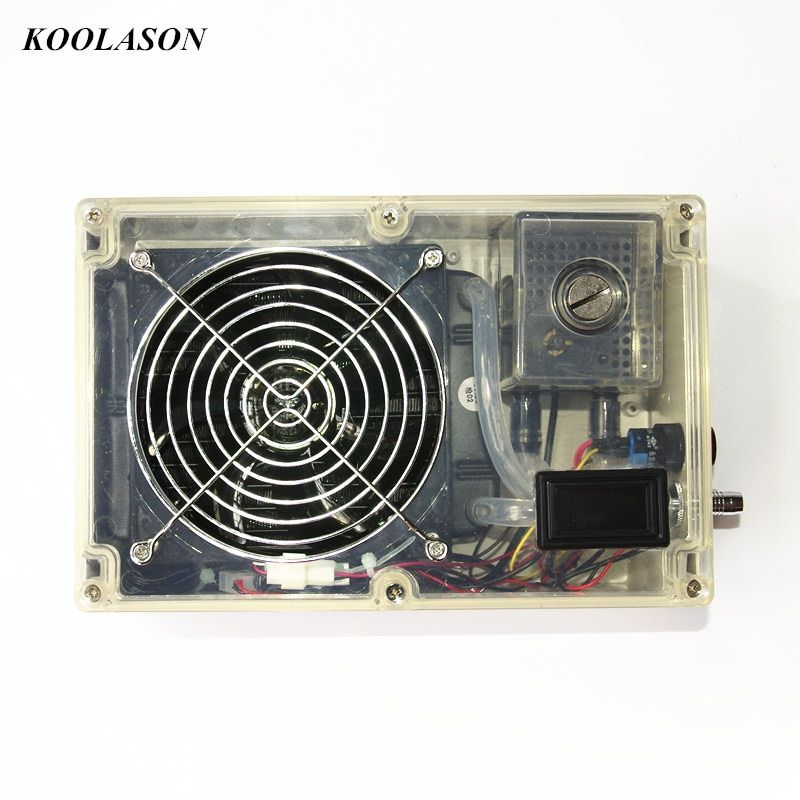DIY laptop notebook water cooling system cooler large flow radiator water tank pumps fan Integrated type Transparent shell