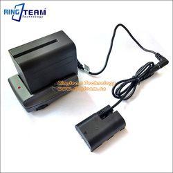 Alimentation Système NP F970 Batterie + Adaptateur Titulaire + LP-E6 DC Coupleur pour Canon EOS 5D Mark 2 3 5DS R 6D 7D 7D2 60D 70D Caméra