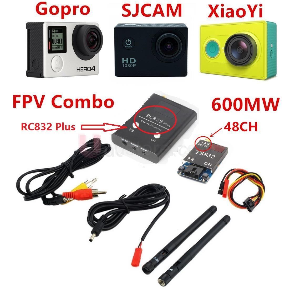 FPV System Boscam 5.8Ghz 600mW 48CH Transmitter TS832 &Receiver RC832 Plus FPV System For QAV210 QAV250 Drone Quadcopter Walkera