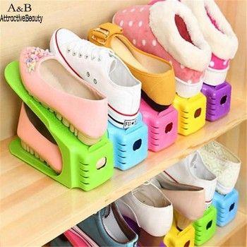 Homdox Multi-couleur Couches Affichage Chaussures Rack Organisateur Rangement Peu Encombrant Rack N15A