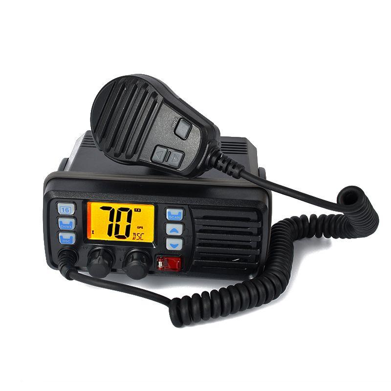 HYS IP-X7 88 Channels Marine Walkie Talkie Radio VHF Dual Band Built-In DSC GPS Receiver TC-507 156-163Mhz