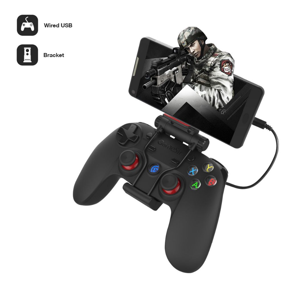 Gamesir G3w Filaire Joystick USB2.0 Gamepad Controller pour Android Smartphone Tablet PC Portable (Avec hoder)