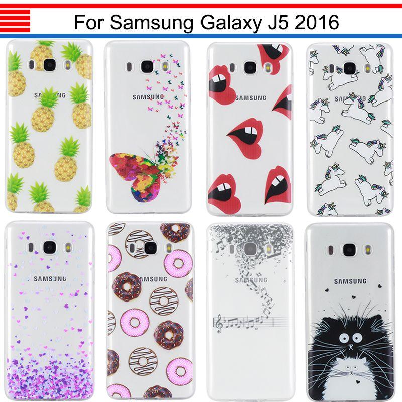 JURCHEN Cas Pour Samsung Galaxy J5 2016 J510 J510F J510FN J510H J5108 Bande Dessinée Silicone TPU Doux Pour Samsung Galaxy J5 2016 Cas