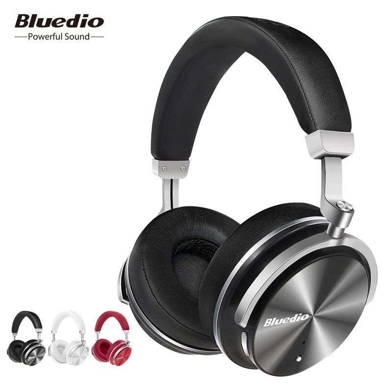 Bluedio T4 active noise cancelling wireless Bluetooth headphones original rotatable headset with microphone for Xiaomi,Samsung