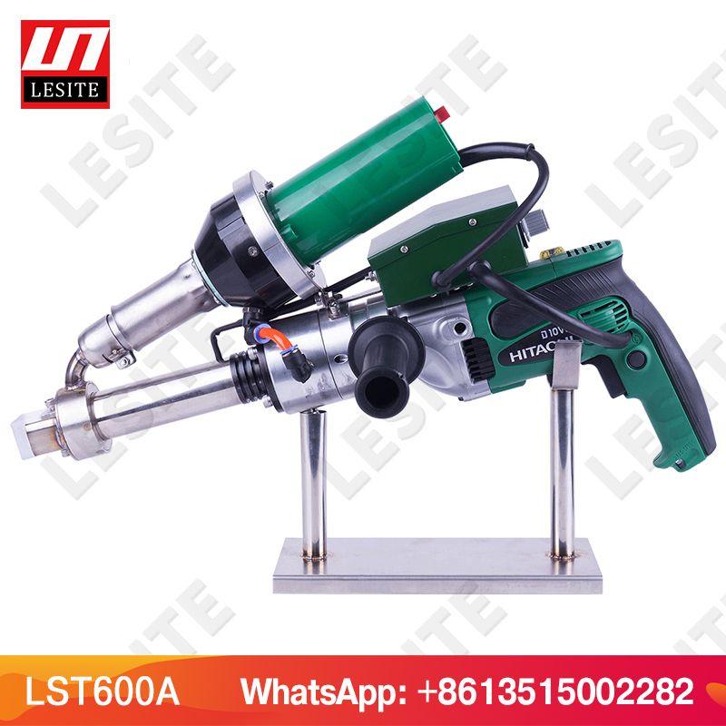 LESITE 3400 W Handheld extruder kunststoff extrusion schweißen maschine heißer luft kunststoff schweißer gun für PP HDPE blatt geomembrane LST600