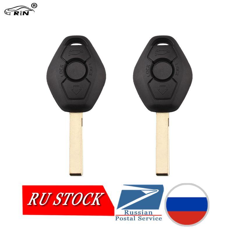 RIN 2PCS/Lot Remote Key 3 Buttons for BMW 325 330 318 525 530 540 E38 E39 E46 M5 X3 X5 M5 EWS System Car Key 433Mhz PCF7935 Chip