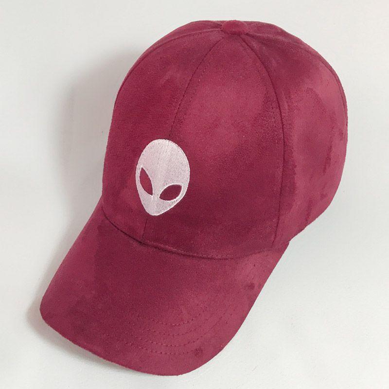 2016 aliens untertasse mann ET UFO fans stickerei schwarz hysteresenhut wildleder sommer Baseballkappe Gorra Hip Hop Caps Wildleder Hüte für Damen