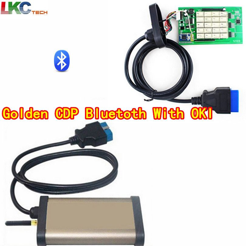 2018 Newly Auto OBD2 Diagnotic gold tcs CDP PRO With OKI Bluetooth(M6636B OKI Chip) 2015R1 Free Actiavte For Cars/Trucks/Generic