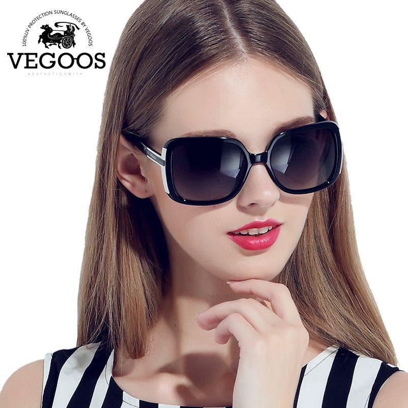 VEGOOS Luxury Brand Designer women Retro Round Sun Glasses Gafas De Sol Metal Temples Sunglass Lunettes Oculos De Sol #9018