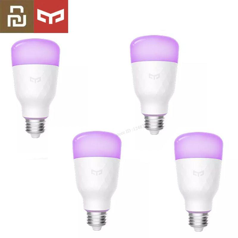 (Version mise à jour) Original Xiao mi jia yeelight ampoule LED intelligente coloré 800 lumens 10 W E27 citron ampoule intelligente pour mi home App