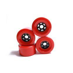 Besar 80 Mm 87 Mm 83 Mm 90 Mm 97 Mm Longboard Roda SHR78A Warna Merah Roda Pu Tingkat Tinggi lembut Roda Tahan PU Roda Skateboard