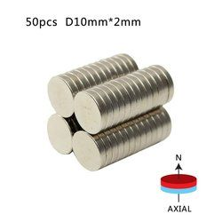 Wholesale 50pcs Super Strong Round Magnets 10mm X 2mm Rare Earth Neodymium Magnet N50