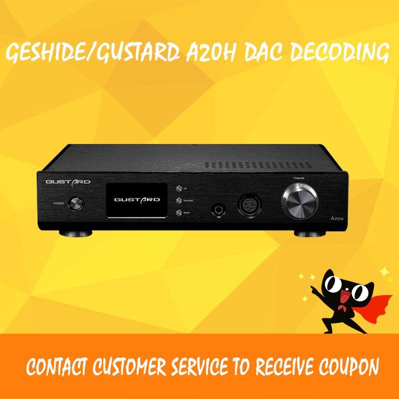 Geshide/GUSTARD A20H audio amplifier usb dac audio player ak4497 usb decoding  xmos class a amplifier balance headphone amp