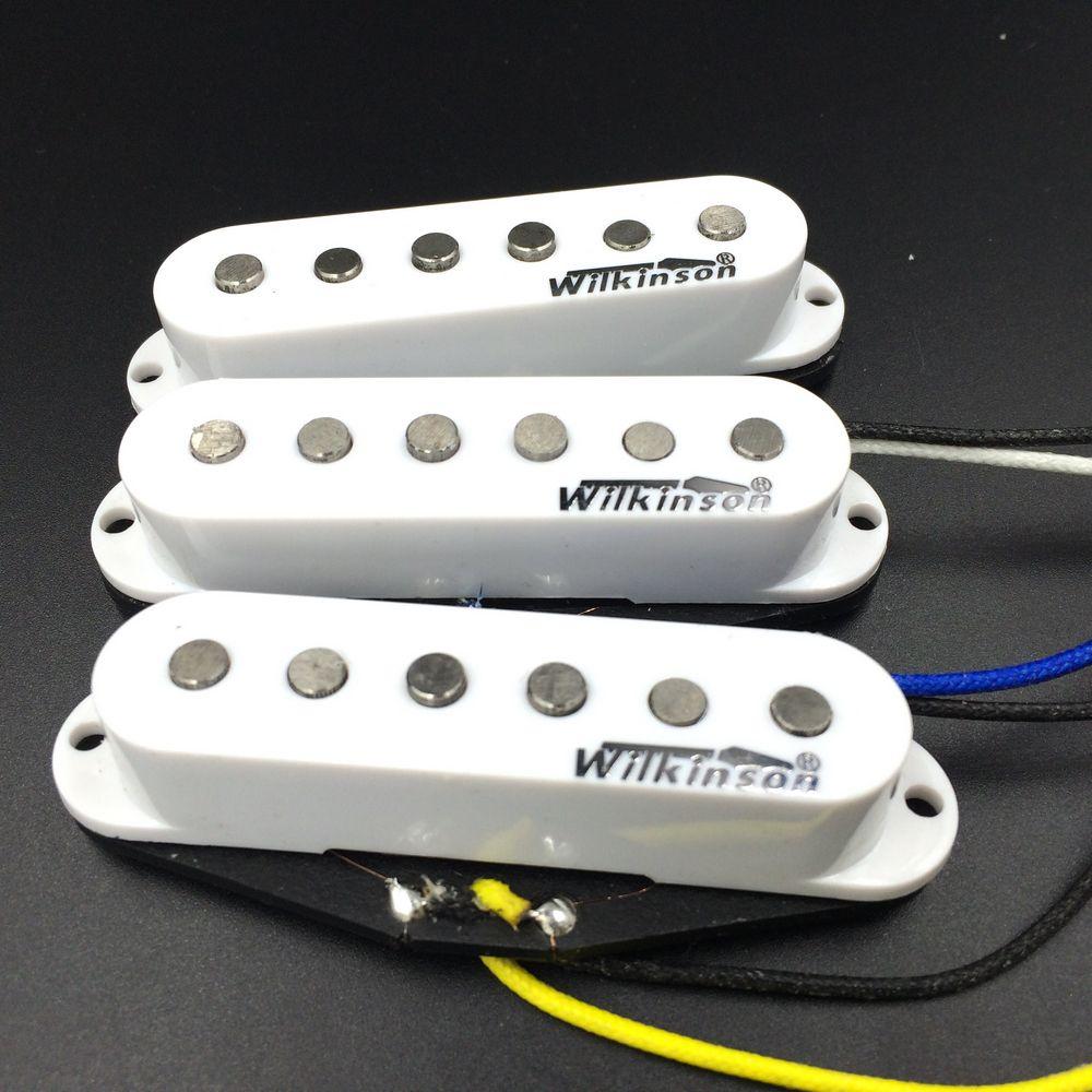 Wilkinson Prime 60's WVS Alnico V Single Coil Guitare Micros Blanc Électrique Guitare Micros Pour ST Made In Corée