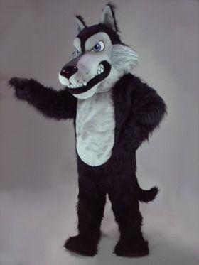 Maskottchen black wolf kojote benutzerdefinierte fantasiekostüm anime cosplay kit mascotte thema dress karneval kostüm