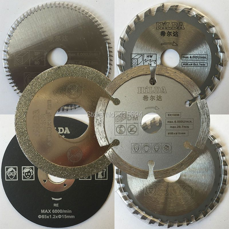 6 pcs/ensemble pour Outils Électriques à Usages Multiples, bricolage maison outils de coupe, scie circulaire électrique. pour le bois, le métal, granit, marbre, carrelage, brique