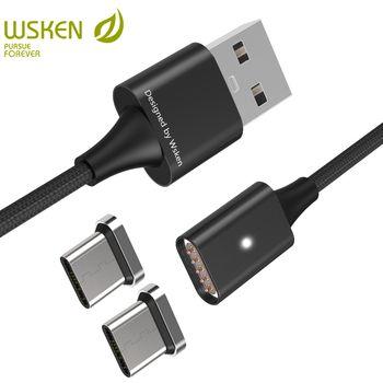Wsken lite 1 Магнитная Тип USB C кабель USB c Магнитная Зарядное устройство кабель для Samsung S8 Примечание 8 USB-C Тип- C устройств usb кабель