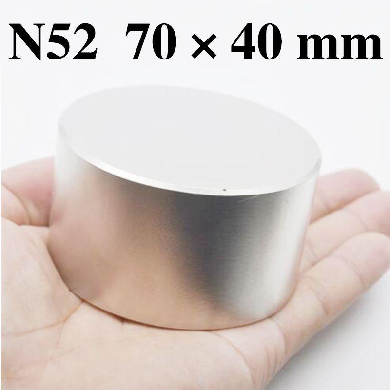 HYSAMTA 1 pièces N52 aimant néodyme 70x40mm métal gallium chaud super fort aimants ronds 70*40mm puissants aimants permanents