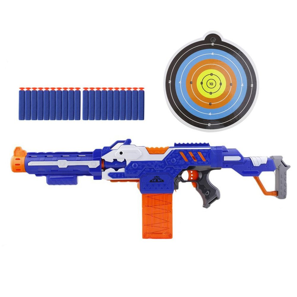 OCDAY Soft Bullet Guns Electric <font><b>Shooting</b></font> Submachine Toy Gun Weapon with Box Funny Outdoors Toys For Children Christmas Gift