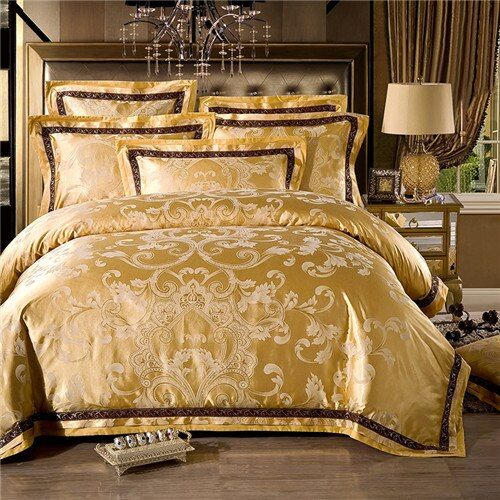 European palace style Luxury Bedding Sets Jacquard cotton 4/6pcs Queen/King Size Duvet Cover Set Bedclothes Bed Linen bed sheet