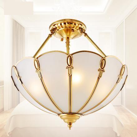 Tiffany vintage Pendant Lighting retro Lamp European Luxury Copper Ceiling mounted Lamp Study Bedroom pendant Lamps & Luminaria