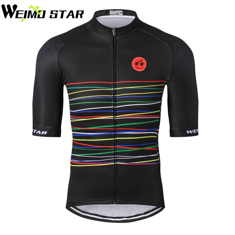 WEIMOSTAR 2018 Men Team Pro Riding Cycling Jersey Bike Bicycle Short Sleeve Clothing Shirt Tops S-5XL