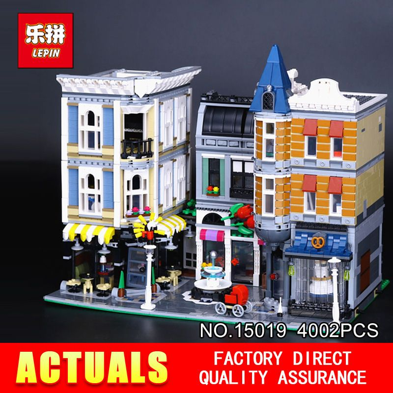 Lepin 15019 4002Pcs MOC Creative Series The Assembly Square Set Building Blocks Bricks Toy Model 10255 for Children Holiday gift