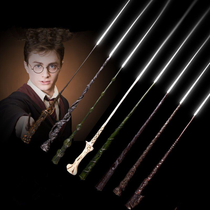 CHAUDE Led Lightting Baguette Magique de Harry Potter Ron Weasley Rogue Hermione Voldemort Baguette Magique Magique Cosplay Jouets En Gros
