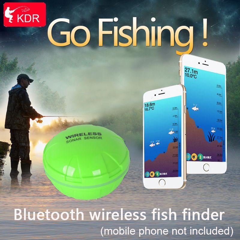 Brand New KDR Phone Bluetooth Intelligent Fish <font><b>Finder</b></font> Wireless Fish Visual Fishing Free Shipping