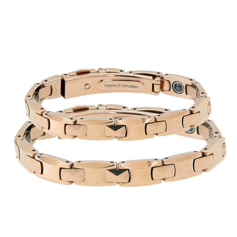 Bijoux de mode Pur Germanium Bracelet De Tungstène Or Rose Couple Amoureux Cadeau Bilan Énergétique Italien Bracelets & Bangles