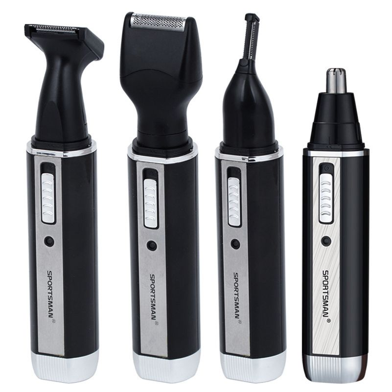 4 In 1 <font><b>Rechargable</b></font> Ear Nose Trimmer Electric Shaver Beard Face Eyebrows Nose Ear Hair Trimmer Automatic Removal Shaver For Men
