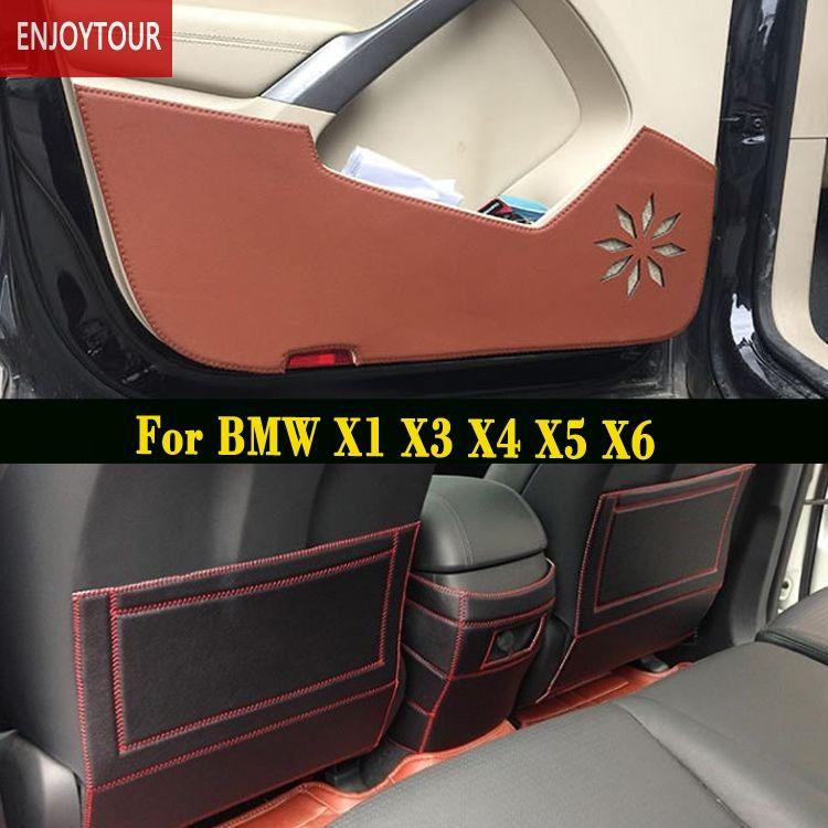 Car  pads  front rear door  Seat Anti-kick mat Accessories For BMW X1 F48 E84 X6 E71 F16 X50 E70 F15 X4 F26 X3 F25
