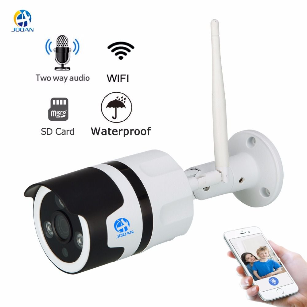 JOOAN wireless IP Camera Wifi 2.0MP outdoor surveillance camera 1080p <font><b>Onvif</b></font> bullet IP security camera TF card record IP66