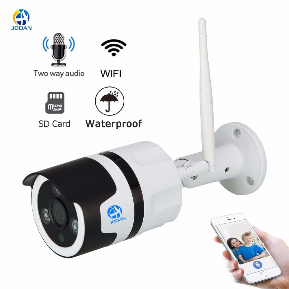 JOOAN wireless IP Camera Wifi 2.0MP outdoor surveillance camera 1080p Onvif bullet IP security camera TF card record IP66